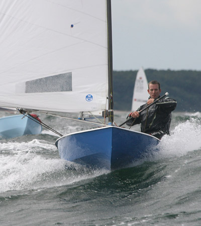 OK Dinghy sailing